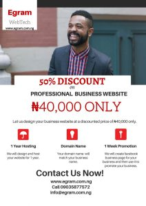 50% Discount on Professional Business Website